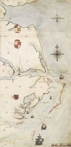 Raleigh founds Roanoke colony