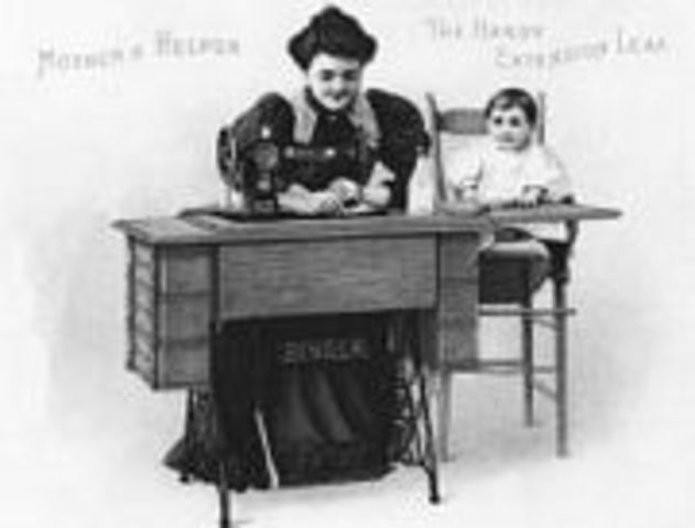 Sewing Machine is Invented by Elias Howe