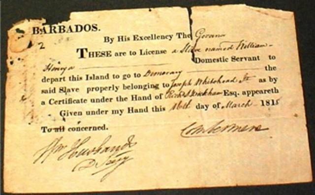 Barbados Slave Code