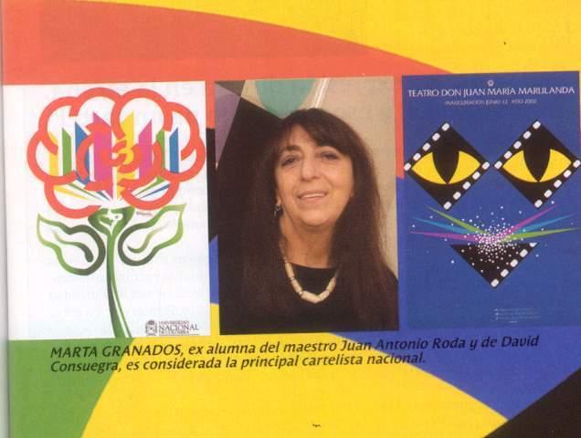 Marta Granados presenta en la Galería del Centro Colombo Americano una exposición individual llamada Arte y Gráfica.