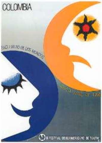 Cartel para el III Festival Iberoamericano de Teatro. Diseño: Marta Granados.