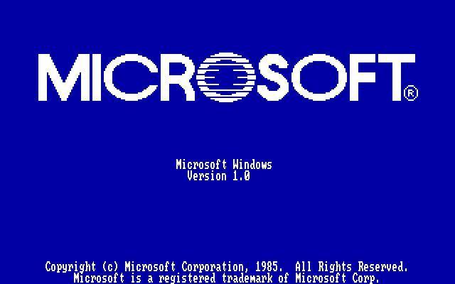 MS Windows 1.0