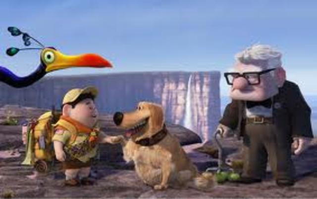 Carl and Russell meet Dug