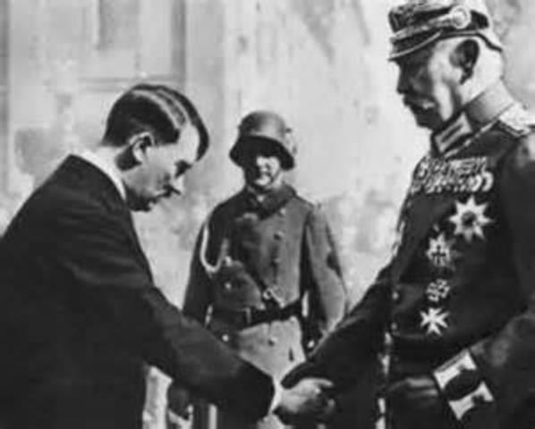 Hindenburg appoints Adolf Hitler as the chancellor