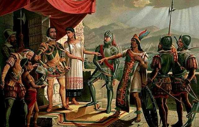Hernán Cortés y los Aztecas