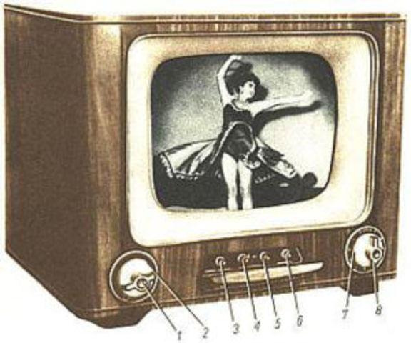 television a blanco y negro