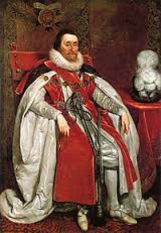 King James I ascended to throne