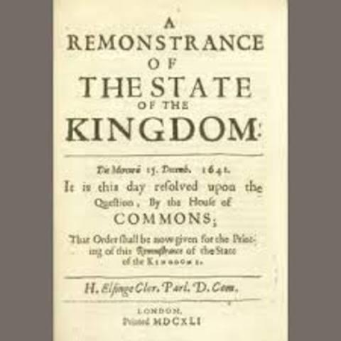Grand Remonstrance signed