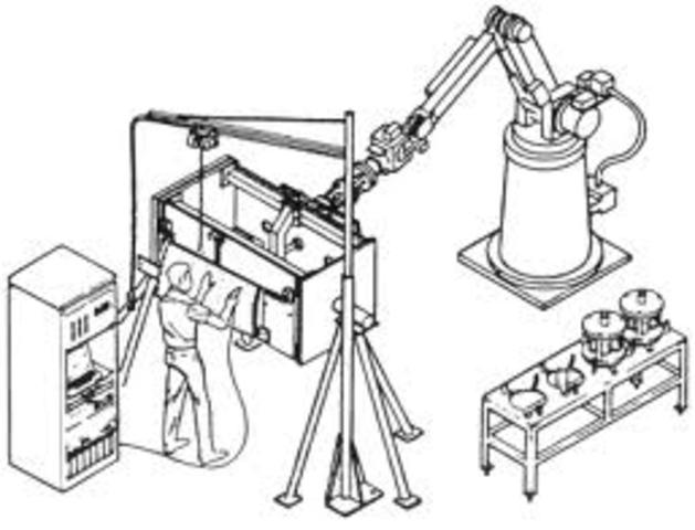 primer diseño de maquina robot para la industria