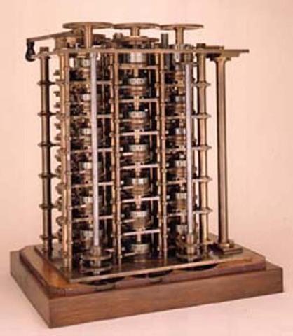 Charles Babbage presenta su proyecto de la máquina en diferencias, para evaluar polinomios.