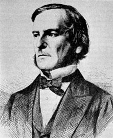 George Boole desarrolla el álgebra que lleva su nombre: álgebra booleana.