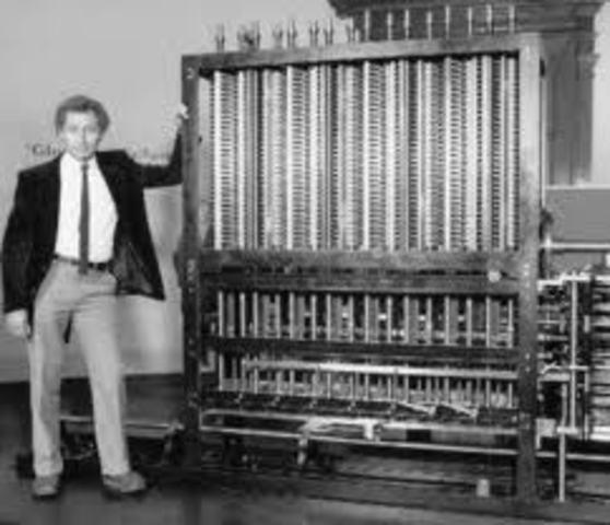 Herman Hollerith construye la máquina censadora o tabuladora, que por medio de tarjetas perforadas reducía el tiempo al realizar el censo.