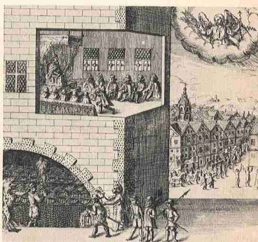 Discovery of Gunpowder plot to blow up King and Parliament