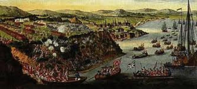Fall of Quebec - surrendered to British - 1759