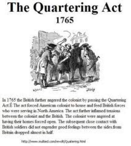 Quartering Act - Intolerable Act