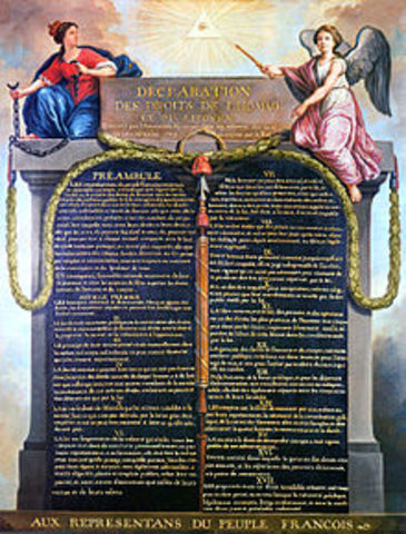 The Declaration of the Rights of Man was issued by the National Assembly