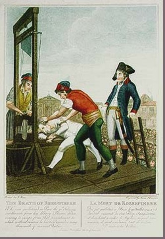 Robespierre beheaded
