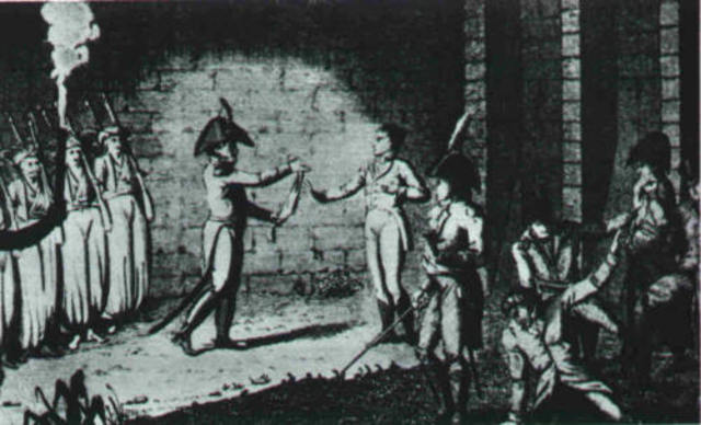 Napolean imprisoned