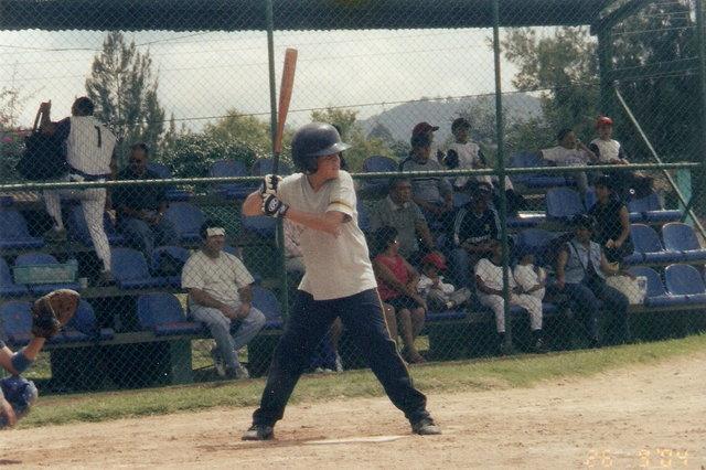 Jugue Baseball en el equipo del colegio