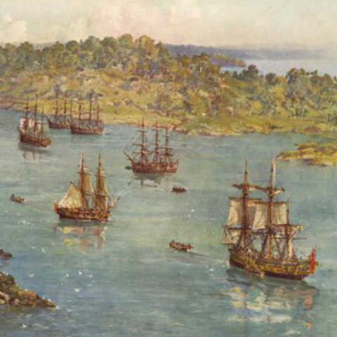 The Arrival of the First Fleet in Australia
