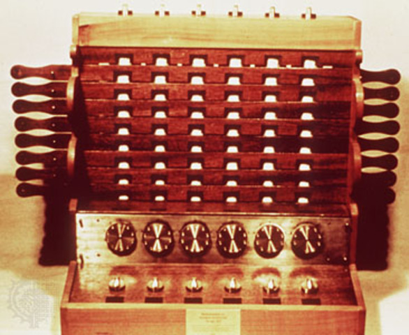 Konstrukcja pierwszej w histori maszyny do liczenia