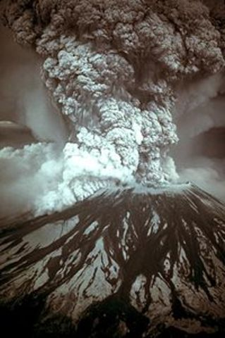 Mount Saint Helens Erupts