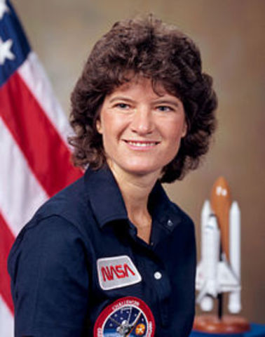 First Woman American to go to space- Sally ride