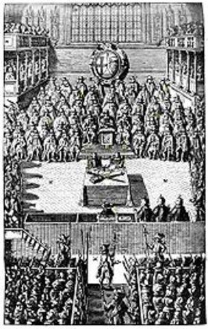 King Charles sets up his court at York.