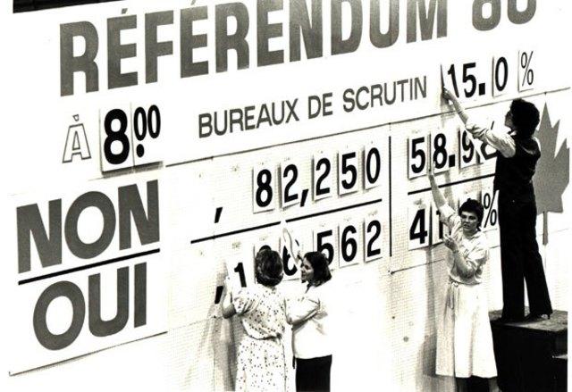 Premier référendum québécois sur la souvaineté-association
