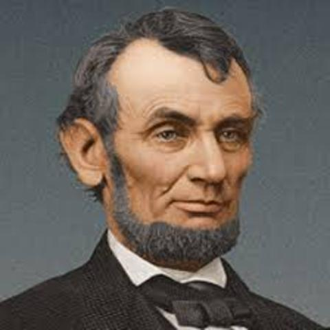 Abraham Lincoln is elected President of the United States