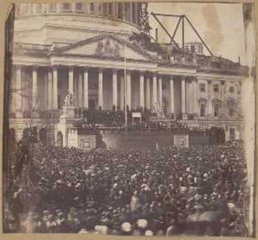 Abraham LIncoln delivers his first Innagural Address