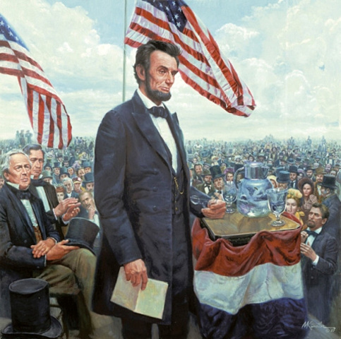 Lincoln is reelected President