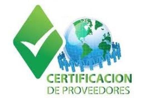 Certificación de Proveedores