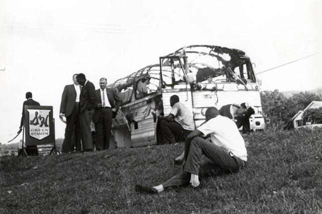 Fredom Riders Bus Burned