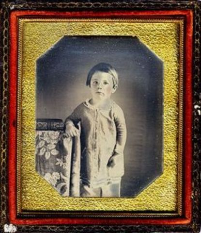 Second child, Edward Baker Lincoln was born