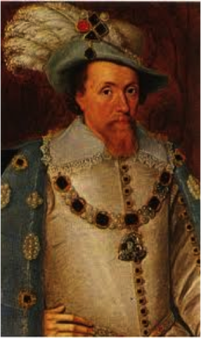 James I is born