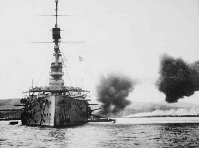 Naval attack on Gallipoli begins