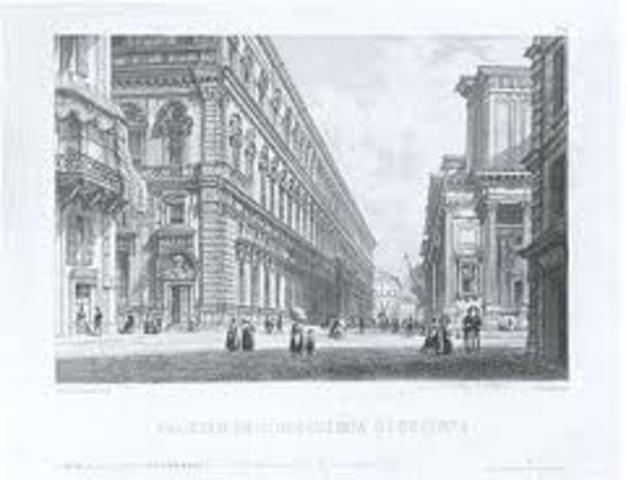 Studia presso la Reale Accademia di Torino