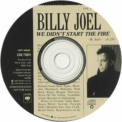 "Bill Joel ""we Didn't Start The Fire"" timeline"