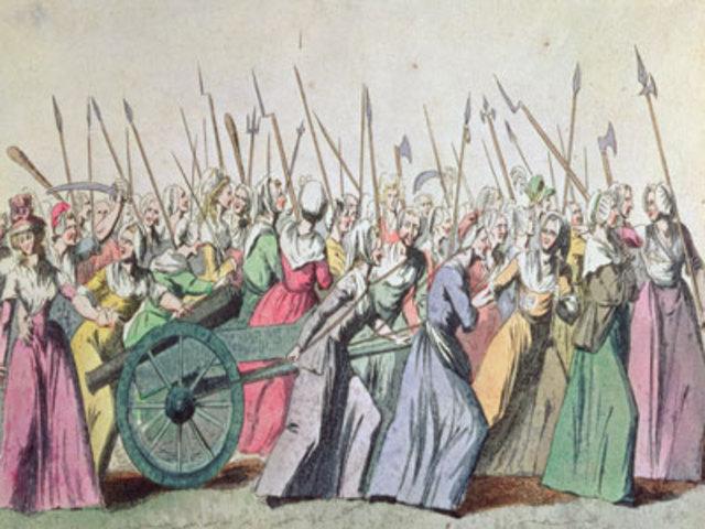 Women march to Versailles