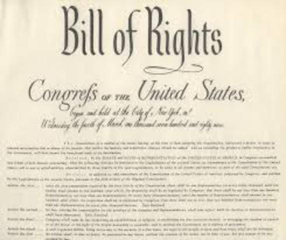 Bill of rights confirmed