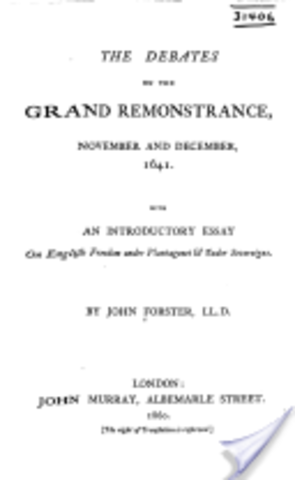 The Grand Remonstrance