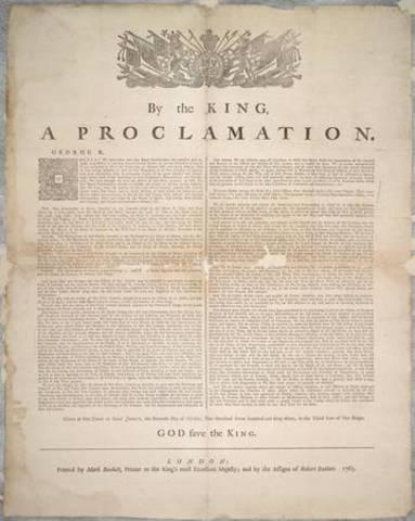 Royal Proclamation