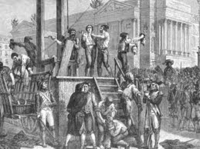 Maxemillion Robespierre is killed