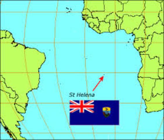 Napoleon sent to St.Helena