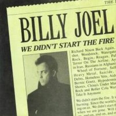 "The past with the song "" We Didn't Start The Fire "" timeline"