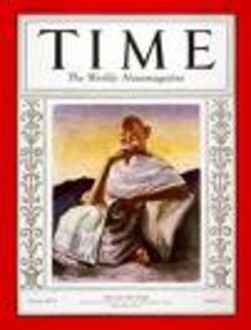 """Gandhi is named """"Man of the Year"""" by Time magazine."""