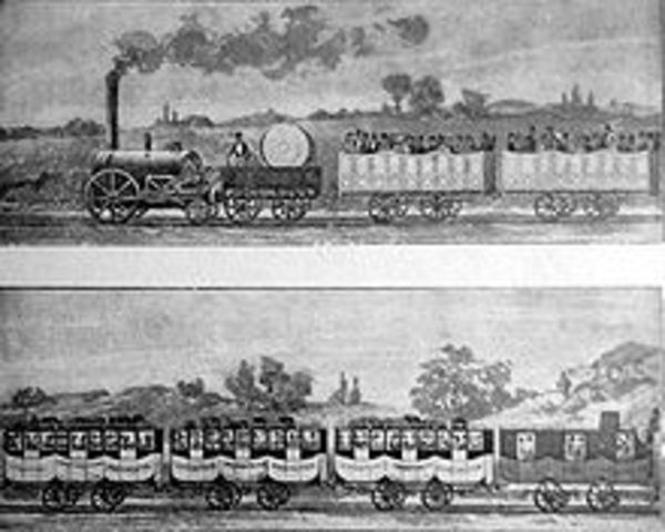 George Stephenson begins rail service