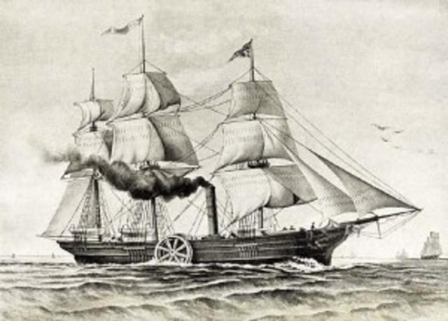 Samuel Cunard begins translantic steamship service