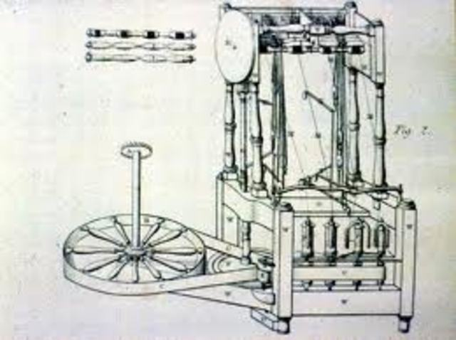 Richard Arkwright patents the water frame